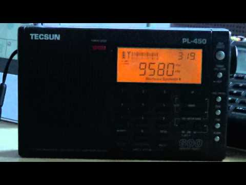 Radio Australia on Tecsun pl-450 using telescopic antenna