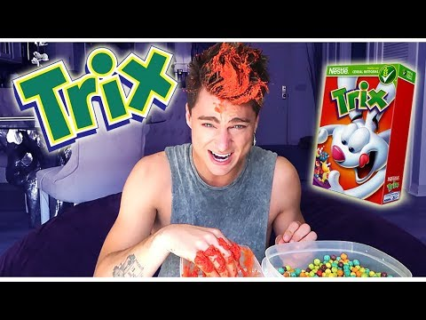 DYING MY HAIR *RED* w/ TRIX CEREAL!! (IT WORKS)