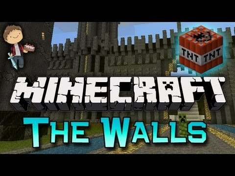Minecraft: The Walls 2v2v2v2 MiniGame w/Mitch & Friends! DUO WAR!