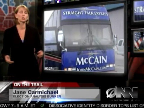 McCain Left On Campaign Bus Overnight