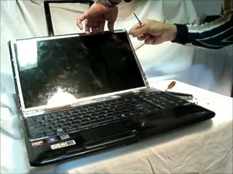 Laptop Screen Replacement / How to replace laptop screen -Toshiba Satellite L655D-S5050.wmv