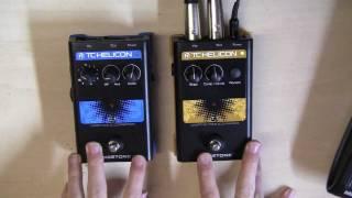 TC Helicon VoiceTone Pedals C1 & T1 Review