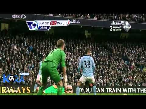 Full HD manchester city vs manchester united 2-3 goals & highlights 9\12\2012