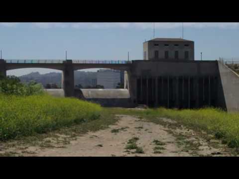 Sepulveda Dam Flooding l a River at Sepulveda Dam