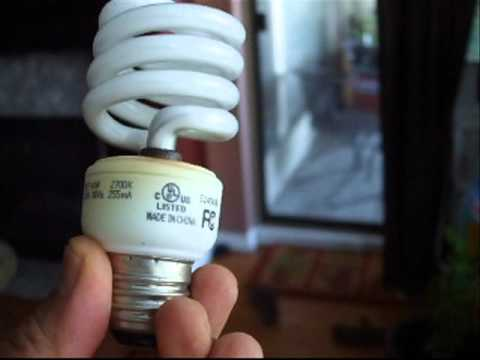 Health dangers mercury fumes from CFL Compact Florescent ...
