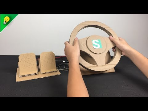 [Amazing Cardboard DIY] PS4 Steering Wheel with Old PC Mouse ✅ Euro Truck Simulator 2
