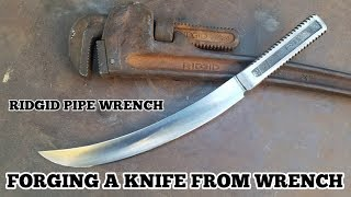 Forging a Knife From A Pipe Wrench