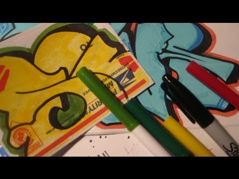 Best Markers For Graffiti Stickers - Making Good Stickers With Cheap Markers-