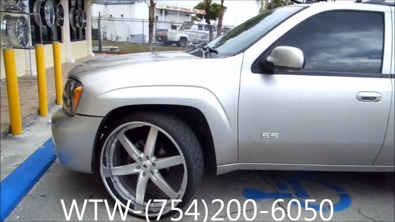 "Chevy Trailblazer Ratings >> AceWhips.NET- WTW Customs Broward- Chevy Trailblazer SS on 26"" Kartier Rims - YouTube"