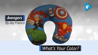 Best Of Kids Travel Neck Pillow With Marvel, Disney, And More Great Kids Heros