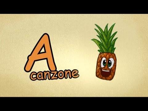 alfabeto italiano per bambini canzone - La lettera A canzone | Impara l'italiano canzoni per bambini