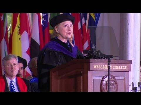 Hillary Clinton invokes Nixon in grad speech