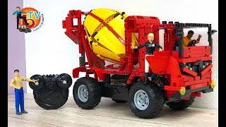 LEGO TRUCK Mixer RC Buiding Blocks Lastbil LKW | BRUDER TV | Kids Video
