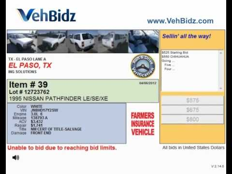 Searching for Car Auctions in El Paso TX