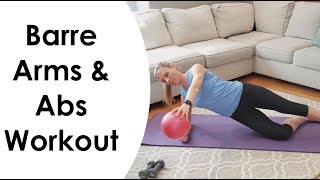 BARRE ARMS & ABS WORKOUT (ON THE MAT)