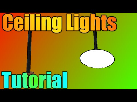 [ROBLOX: Building Tutorial] - Basic Hanging Ceiling Lights!