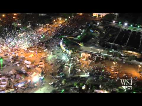 Egypt Protest Video | Protesters Crowd Cairo's Tahrir Square