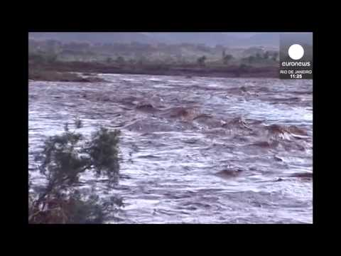Video: Raging flood waters rip through Southern Morocco