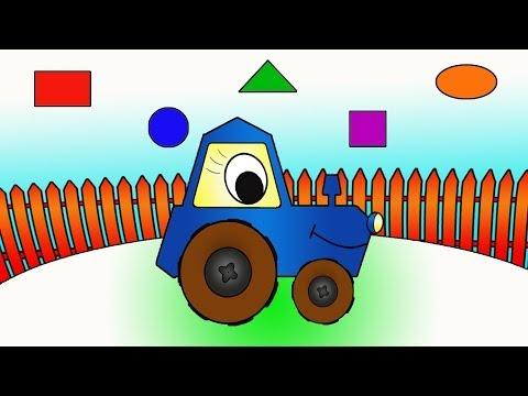 Eğitici Çizgi Film – Neşeli Şekiller – Traktör