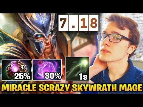 Miracle 7.18 Skywrath Mage 1s Arcane Bolt IMBA Dota 2