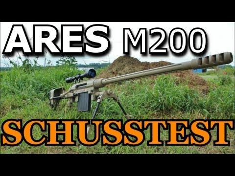 ARES M200 Sniper Schusstest (GsP Airsoft) GERMAN