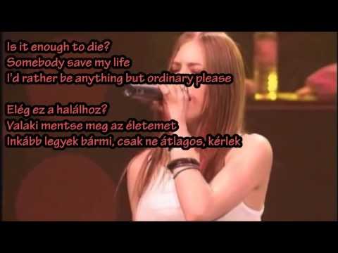 Avril Lavigne - Anything But Ordinary (HQ-HD lyrics + Hungarian translation)
