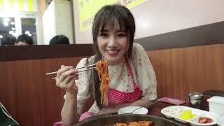 Hari Won - Siêu Ham Ăn | Gà phô mai cay Hàn Quốc (du lịch Seoul) 하리원-시우함안ㅣ한국치즈붉닭(서울여행)