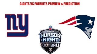 New York Giants vs New England Patriots Preview and Prediction. A Snowballs chance in hell