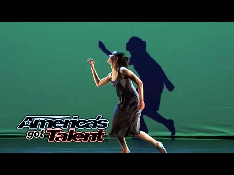 Blue Journey: Gorgeous Projection Dance Set to Radiohead - America's Got Talent 2014