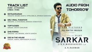 Sarkar Track List | Vijay | Thalapathy | ARM | Songs | Jukebox | Keerthy Suresh