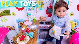 Baby Doll Cooking Chocolate Chip Cookies Kitchen Toys