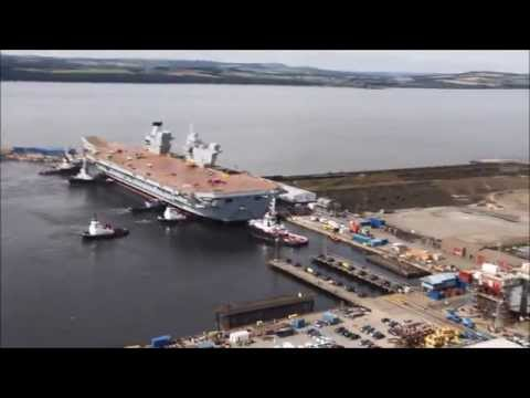 HMS Queen Elizabeth Floats for the First Time