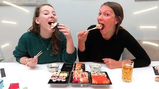 SUSHI MUKBANG met AIMÉE ✰ All About Leonie