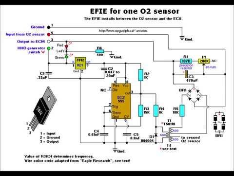 2002 ford explorer o2 wiring diagram diagrama de simulador de sensor de oxigeno youtube  diagrama de simulador de sensor de oxigeno youtube