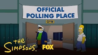 Homer Votes 2012 | Season 26 | THE SIMPSONS