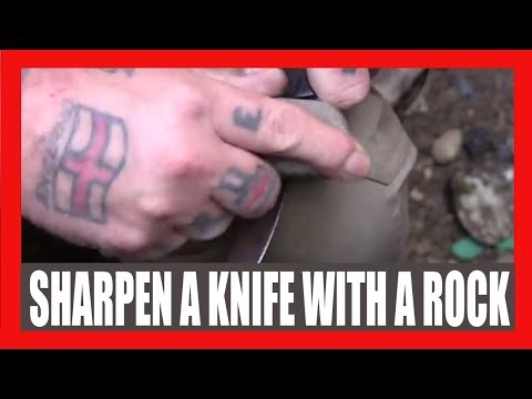 How To Sharpen A Knife On A Rock