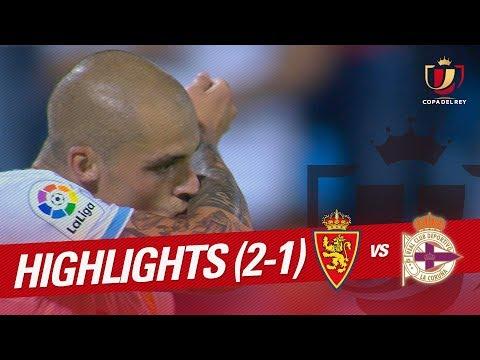 Resumen de Real Zaragoza vs RC Deportivo (2-1)
