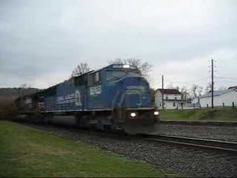 Norfolk Southern 65J and 809 on NS Pittsburgh Line Video