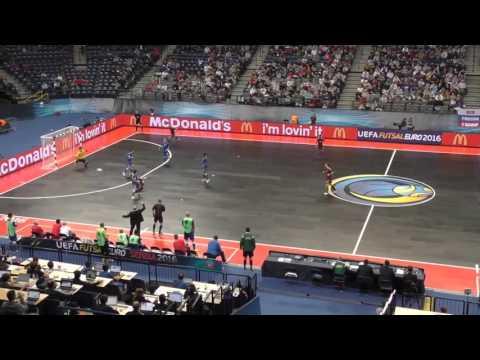 Россия - Азербайджан. ЕВРО-2016 по мини-футболу в Белграде