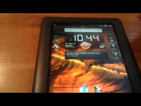 Rooted Nook Color with Android 2.3 Gingerbread (CM7)