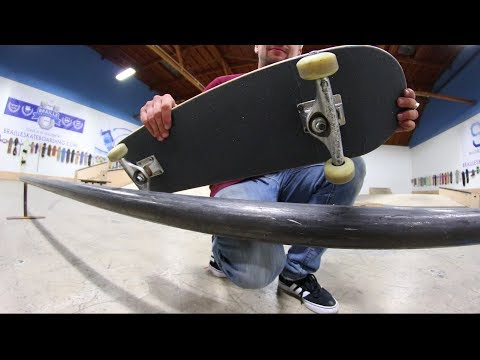 EXTREMELY DANGEROUS GRIPTAPE ON BOTH SIDES RAIL GAME OF SKATE!