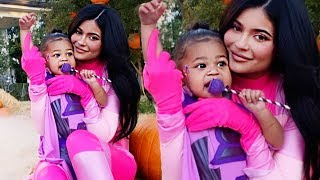 Kylie Jenner & Stormi Break The Internet In Matching Halloween Costumes