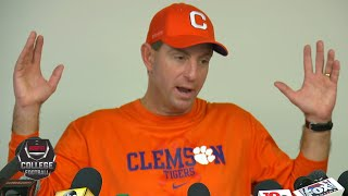Clemson's Dabo Swinney sounds off on CFP: 'They don't want us there' | College Football on ESPN
