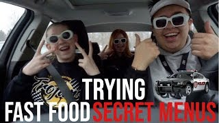 TRYING FAST FOOD SECRET MENU ITEMS (almost got pulled over) || LLE VLOGS