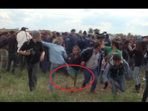 Hungarian journalist Petra Laszlo fired after kicking kid, tripping up fleeing refugees