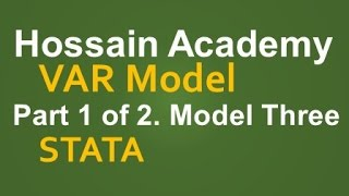 VAR Model. Model Three. Part 1 of 2. STATA
