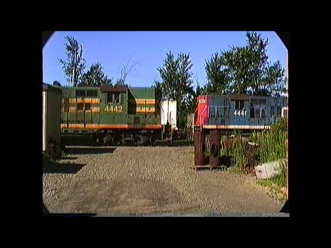 Grand Trunk switcher works Danville Junction,ME  07/30/1989