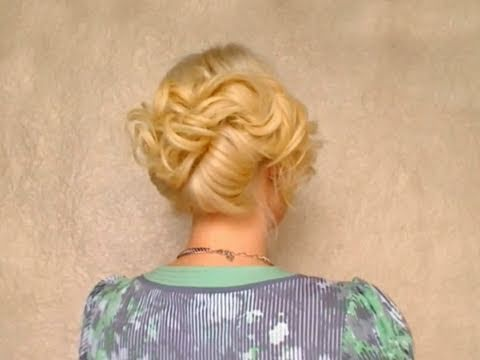 french twist hairstyle for long hair wedding prom updo coiffure facile a faire chignon cheveux. Black Bedroom Furniture Sets. Home Design Ideas