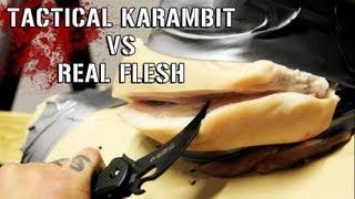 Tactical Knife vs Real Flesh