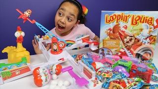 Loopin Louie Toy Challenge - Shopkins Superhero Kinder Surprise Eggs - Sqinkies Blind Bags Surprise